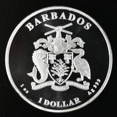2019 Barbados One Ounce .999 Fine Silver Dollar