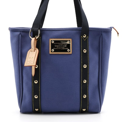 Louis Vuitton Studded Antigua Cabas MM Tote in Indigo Canvas
