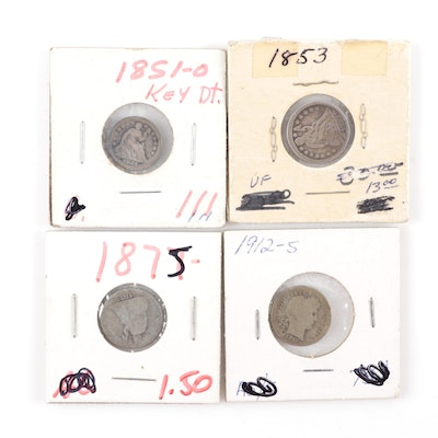 Liberty Seated and Barber U.S. Silver Coins