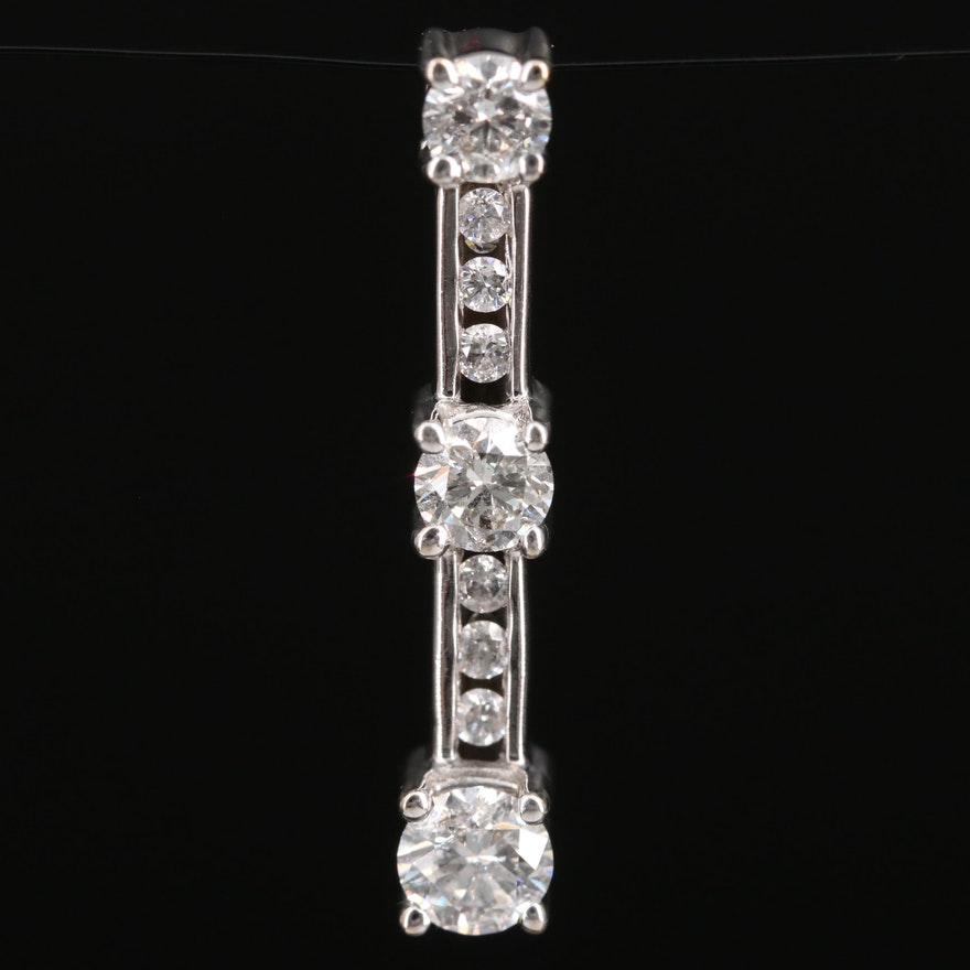 Journey 14K Diamond Pendant