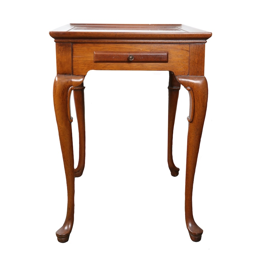 Queen Anne Style Mahogany Side Table, Mid-20th Century