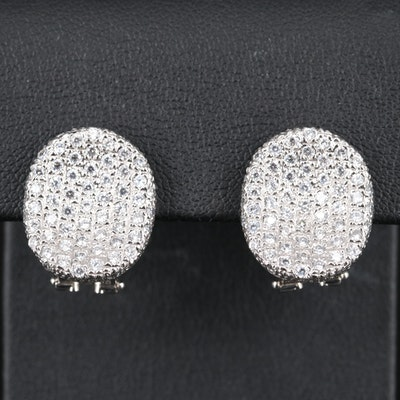 14K Pavé Cubic Zirconia Saddle Earrings