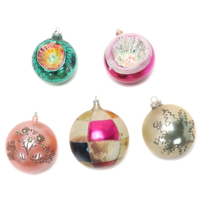 Glass Christmas Tree Ornaments, 1960s