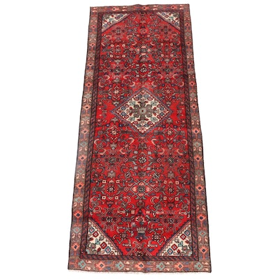 3'6 x 9'5 Hand-Knotted Persian Gogarjin Wool Long Rug