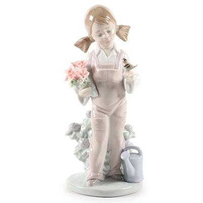 "Lladró ""Spring"" Porcelain Figurine Designed by Juan Huerta, Late 20th Century"