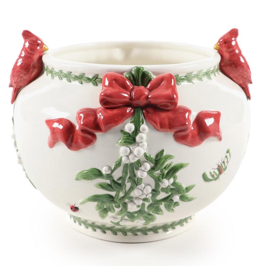 """Portmeirion """"Botanic Garden Mistletoe"""" Ceramic Planter, 2002–2010"""
