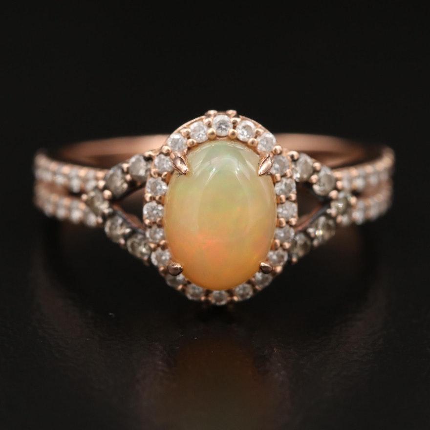 Le Vian 14K Opal and Diamond Ring