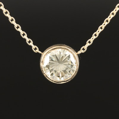 14K 2.50 CT Diamond Solitaire Necklace