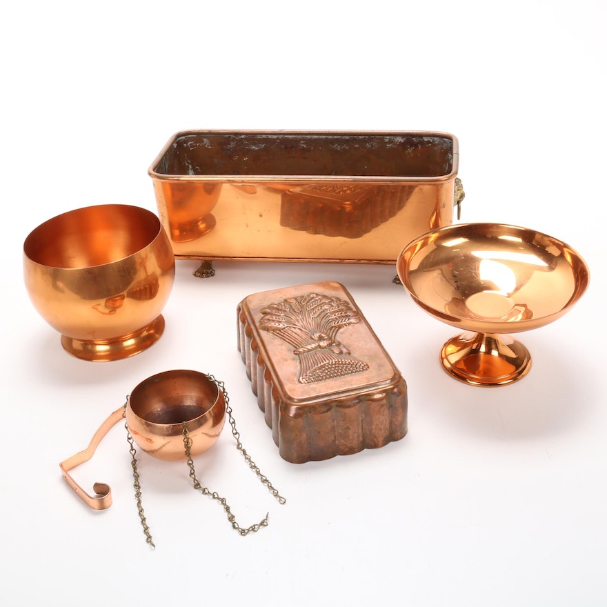 Coppercraft Guild and Other Copper Table Accessories