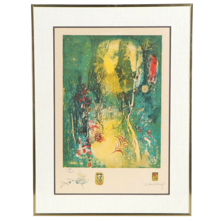 "Hoi Lebadang Lithograph ""Les Fleurs,"" Late 20th Century"