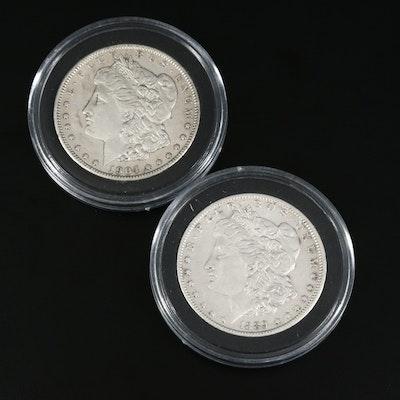 1889-O and 1904 Morgan Silver Dollars