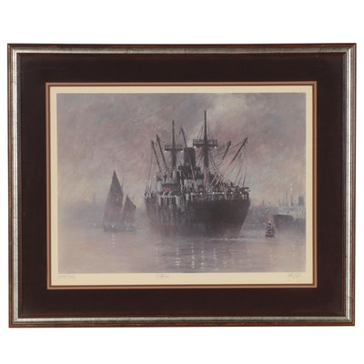 """John Kelly Offset Lithograph """"Nocturne,"""" Late 20th Century"""