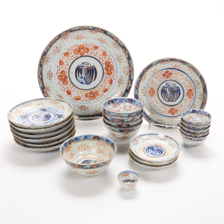 Qing Dynasty Hand-Painted Porcelain Tableware, Late 19th to Early 20th Century