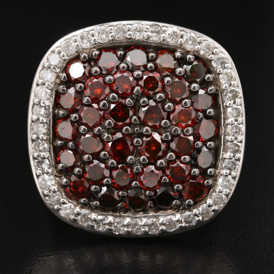 Sterling 3.64 CTW Diamond Ring