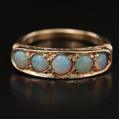 14K Opal Cabochon Ring