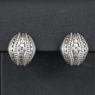 "John Hardy ""Jaisalmer"" Domed Dot Earrings with Box"