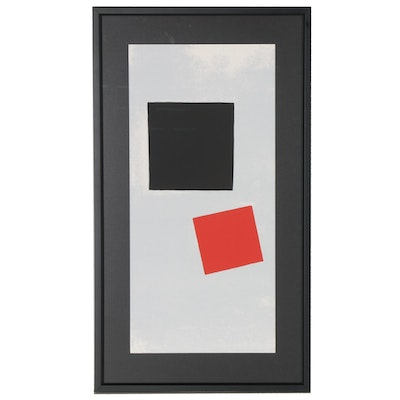 Serigraph after Kazimir Malevich Suprematist Abstraction