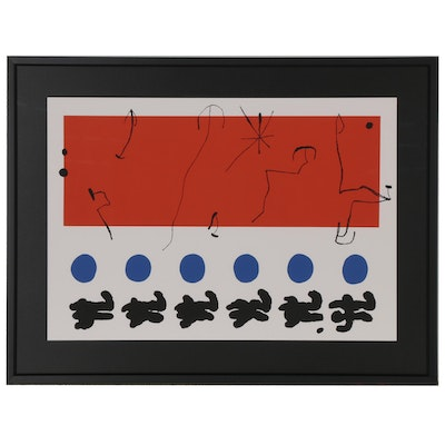 "Serigraph after Joan Miró ""Ciel Rouge,"" 1996"