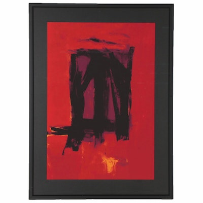 "Serigraph after Franz Kline ""Red Painting,"" Late 20th Century"