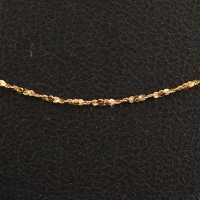 10K Diamond Cut Twisted Serpentine Chain Necklace