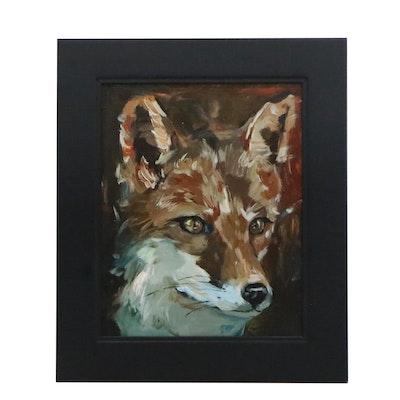 "Adam Deda Oil Painting ""Red Fox,"" 2020"