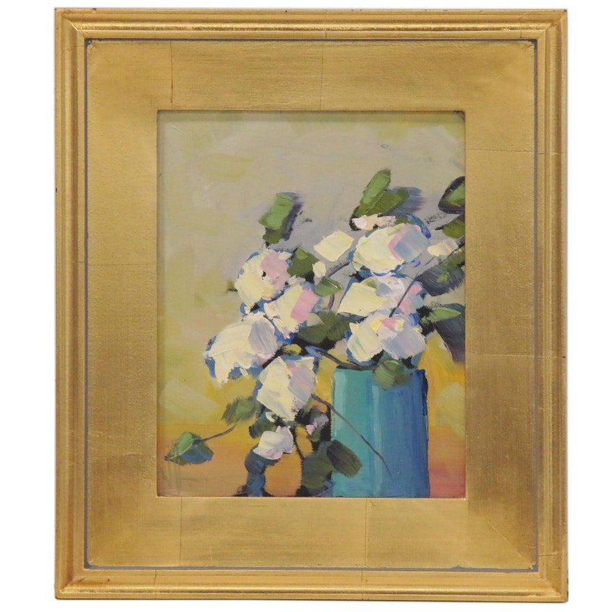 William Hawkins Impressionist Style Still Life Oil Painting