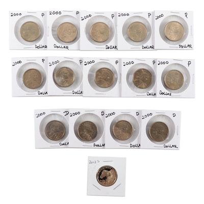 Native American Proof Dollar and Fourteen Sacagawea Dollar Coins