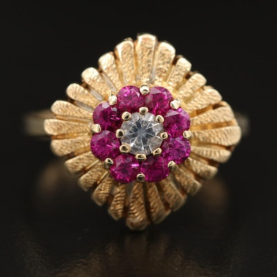 Austrian 14K Spinel and Ruby Ring