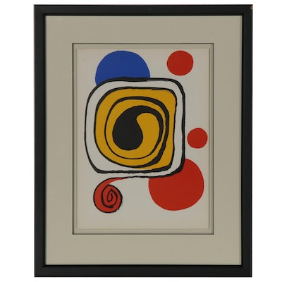 "Alexander Calder Color Lithograph for ""Derrière le Miroir,"" 1971"