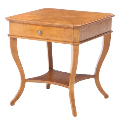 Biedermeier Style Maple End Table, 21st Century