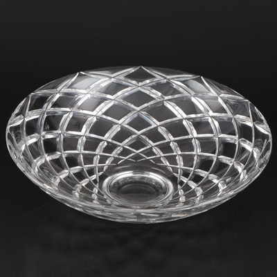 "Tiffany & Co. ""Diamond Cut"" Crystal Centerpiece Bowl"