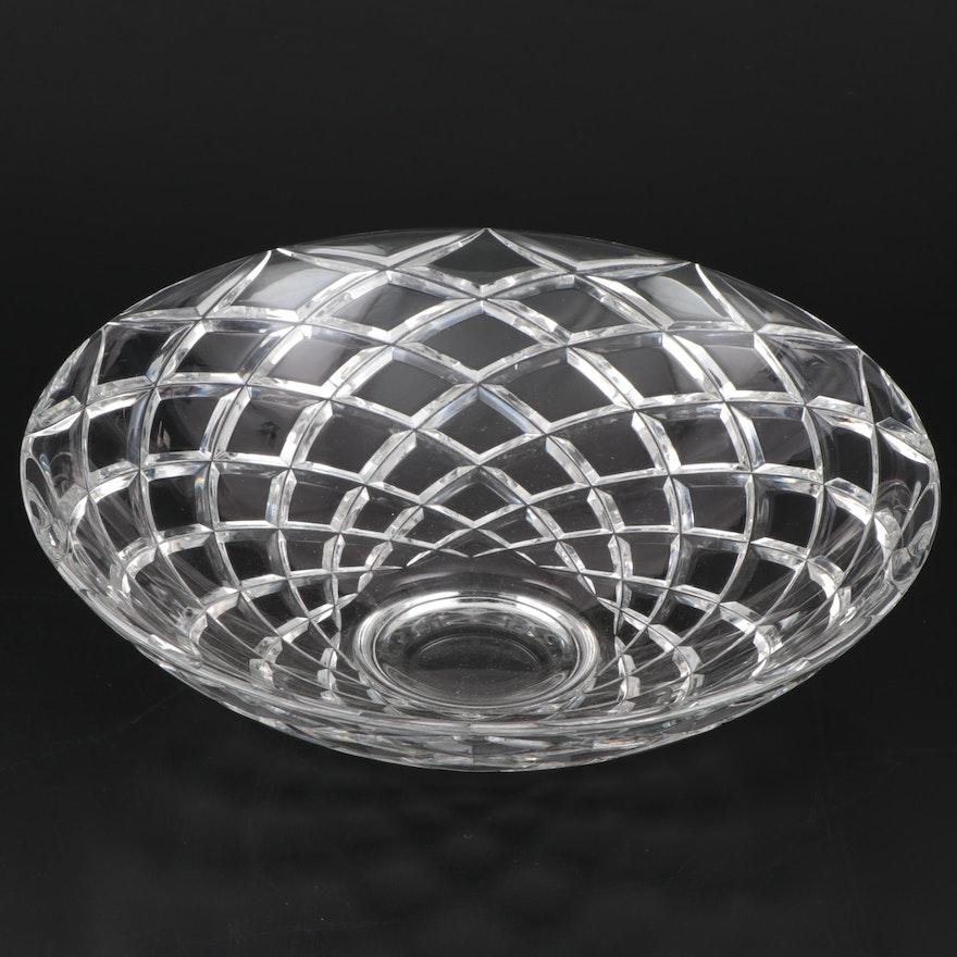 "Tiffany & Co. ""Diamond Cut"" Crystal Centerpiece Bowl"