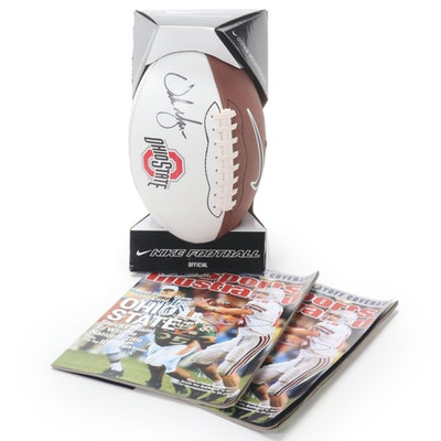 """Urban Meyer Signed Football and Craig Krenzel Signed """"Sports Illustrated"""" Issue"""