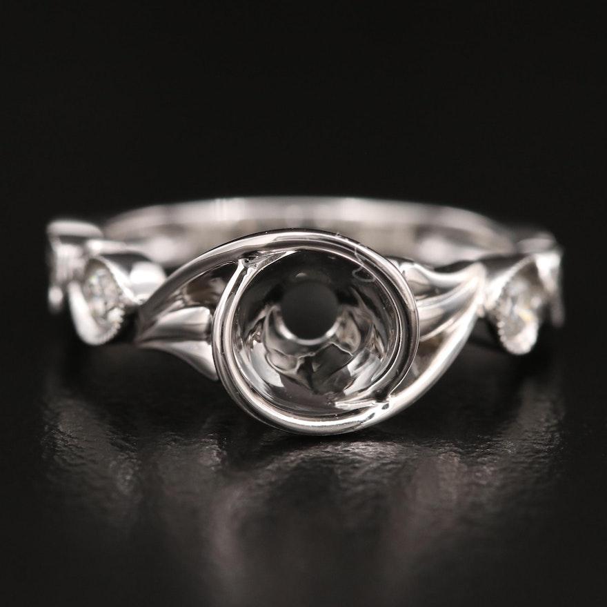 Hana 18K Diamond Semi-Mount Ring