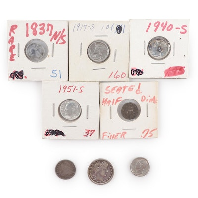 Assortment of U.S. Silver Coins, 19th & 20th Century