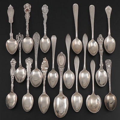 Gorham, Towle and Other Sterling Silver Spoons, Early to Mid 20th Century