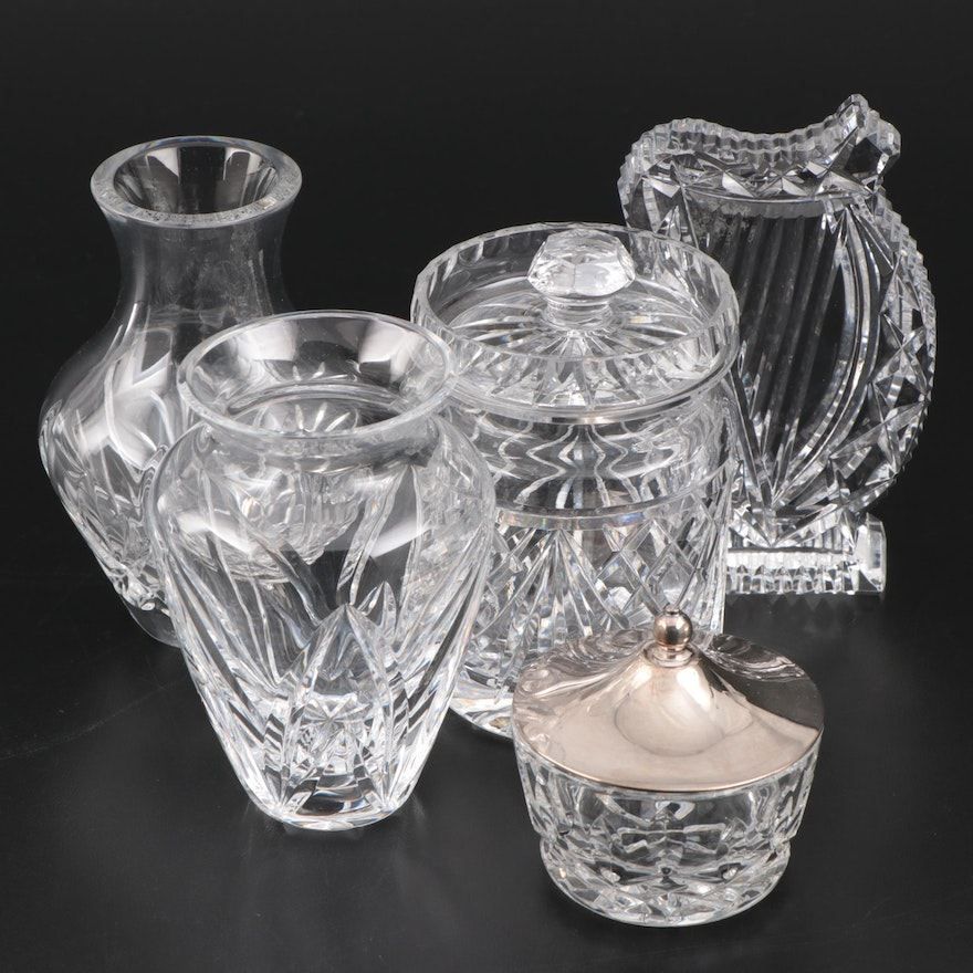 Waterford Crystal Harp Paperweight, Vases and Table Accessories