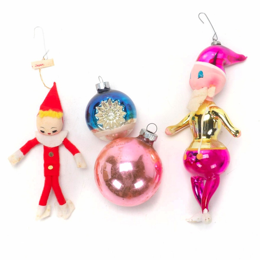 Blown Glass and Other Christmas Ornaments, 1950s