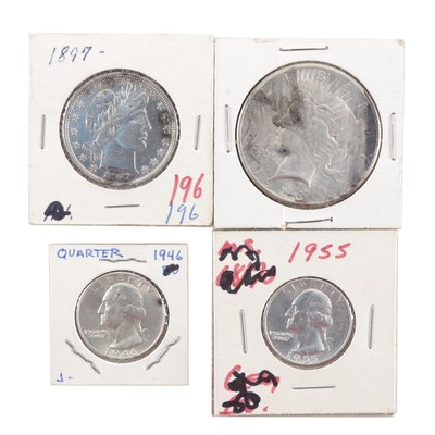 Four Vintage U.S. Silver Coins