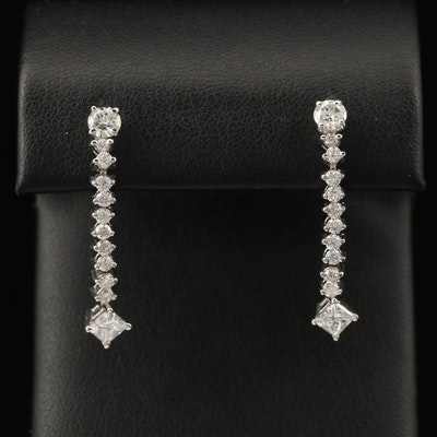 14K 1.82 CTW Diamond Dangle Earrings