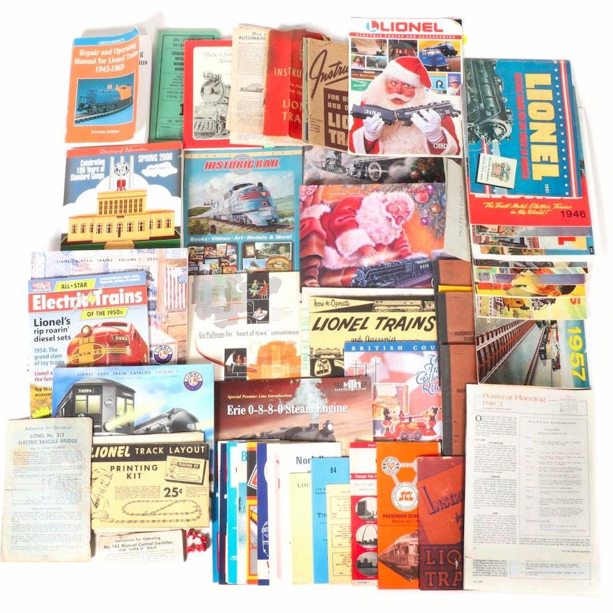 Lionel Train Annual Catalogs and Railroad Ephemera, 20th Century