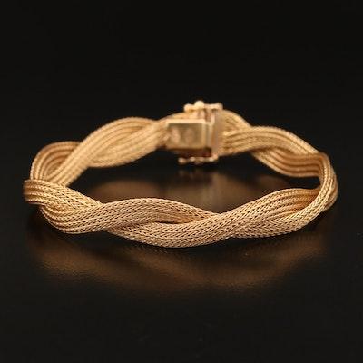 18K Twisted Mesh Bracelet