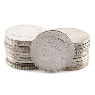 Twenty Peace Silver Dollars