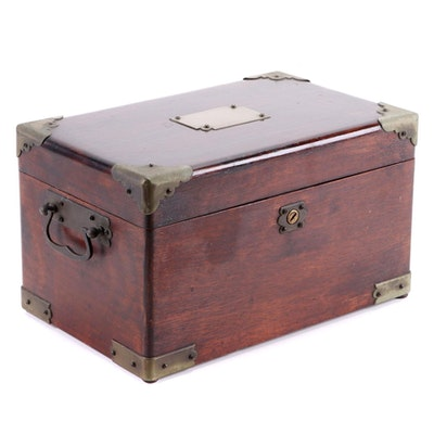 Tin-Lined Walnut Humidor, Early 20th Century