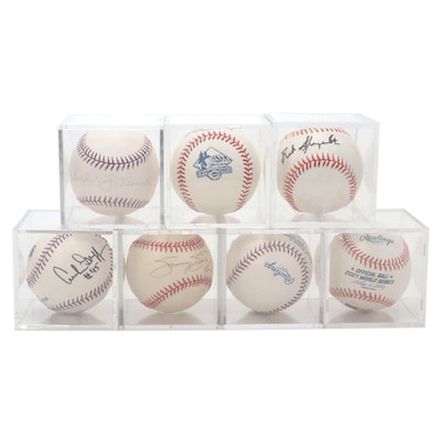 Jim Tressel, Archie Griffin, Sammy Sosa Signed Baseballs with Others