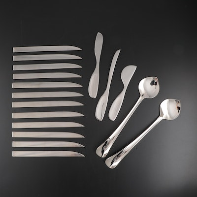 "Georg Jensen ""Jean Nouvel"" Knives with Cheese Knives and Salad Servers"