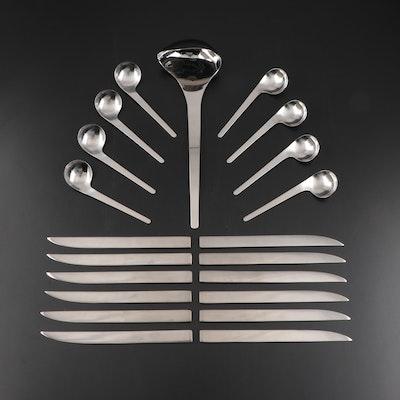"Georg Jensen ""Jean Nouvel"" and ""Arne Jacobsen"" Stainless Steel Flatware"