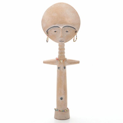 "Asante Inspired ""Akua'ba"" Wooden Doll"