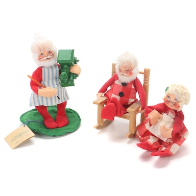 Annalee Mr. and Mrs. Santa Claus Christmas Dolls