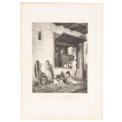 """Photogravure after Jean-Léon Gérôme """"For Sale,"""" Circa 1881"""